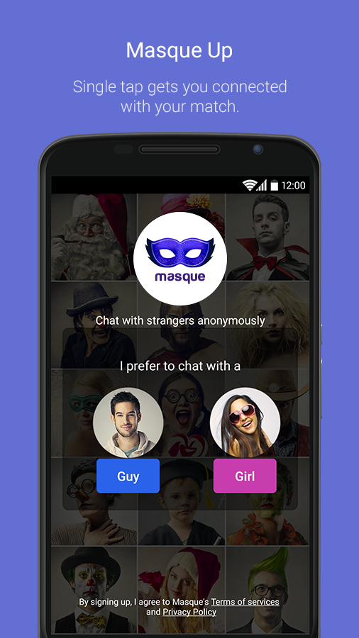 Masque – Anonymous Chat & Call Screenshot 0