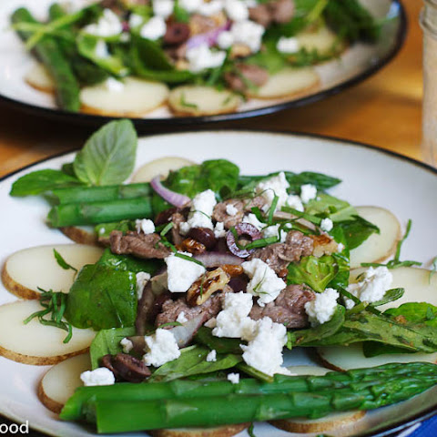 Lamb Spinach Feta Salad