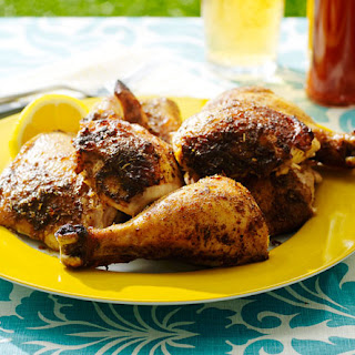 Jerk-Spice Beer Can Chicken