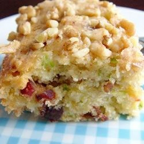 Zucchini-Coconut Cookie Bars