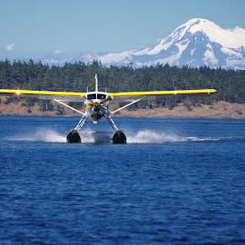 Coming From Mt. Baker by Max Molenaar - Transportation Airplanes ( water, vacation, seaplane, travel, places )