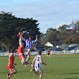 Day at the footy by Toni Jenkins - Sports & Fitness Australian rules football