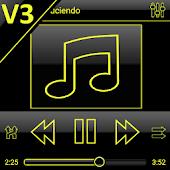 App SKIN PLAYERPRO V3 DARK YELLOW APK for Windows Phone