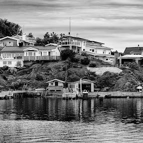 Coastvillage by Tony Mortyr - Black & White Landscapes ( sea, coast, city )