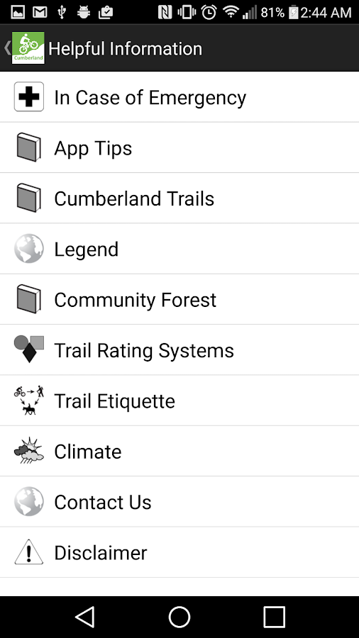 TrailMapps: Cumberland Screenshot 4