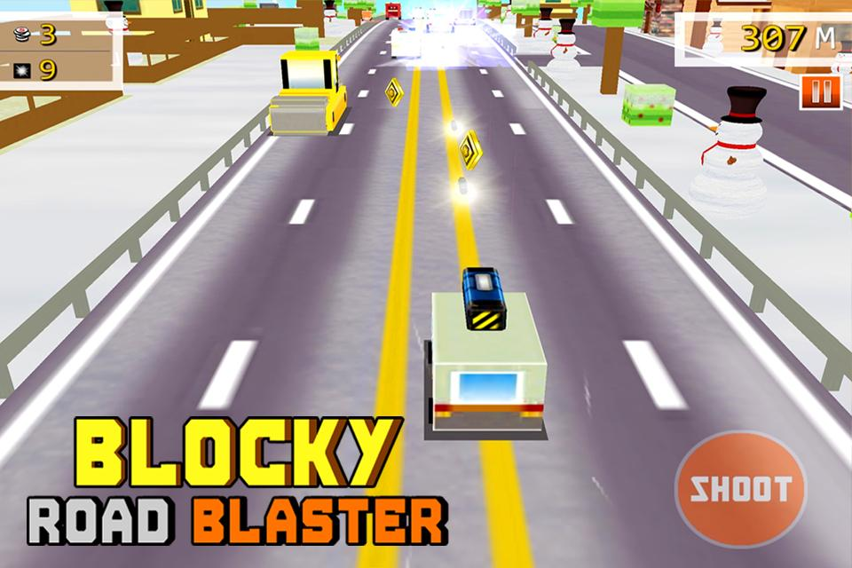 Blocky Road Blaster -Wild Race Screenshot 2