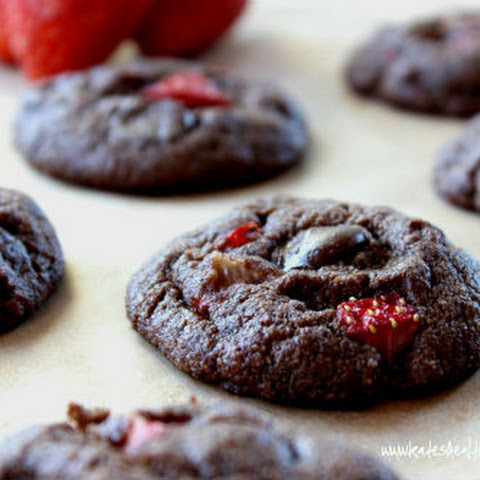 Chocolate Strawberry Brownie Cookies