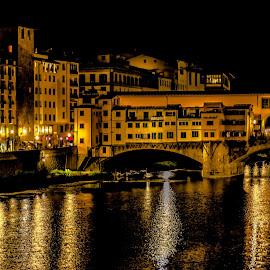 Ponte Vecchio by night, Florence by Hariharan Venkatakrishnan - City,  Street & Park  Night