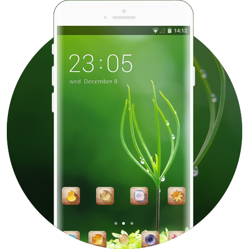 Green Nature Theme Dewdrops Live Wallpaper