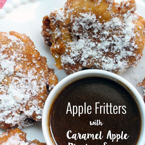 Apple Fritters with Caramel Apple Dipping Sauce