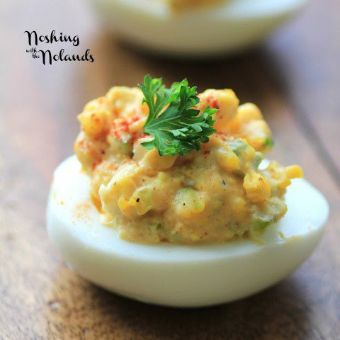 Egg Salad Deviled Eggs for Easter/Passover Feast #SundaySupper