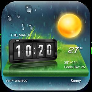Прогноз погоды & Clock Widget