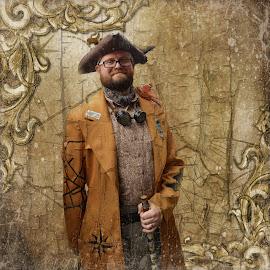 the pirate by Kathleen Devai - Digital Art People ( vintage, lincolnasylum, steampunk, coat, pirate )