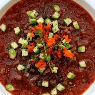 Do You Have Thyme for Roasted Tomato Soup with Spring Vegetables?