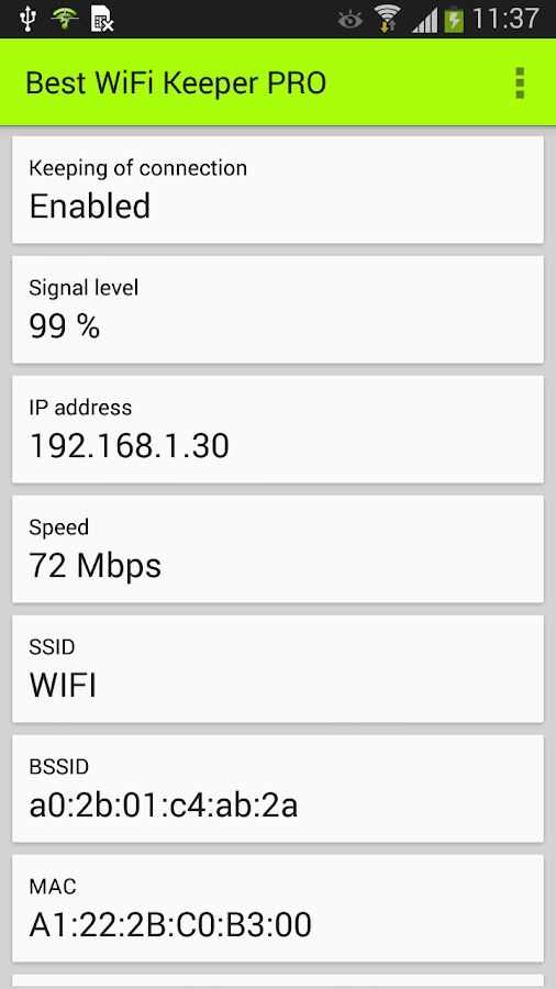 Best WiFi Keeper PRO Screenshot 1