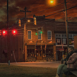 by Bruce Cramer - City,  Street & Park  Street Scenes