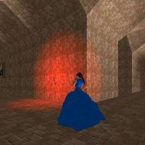 Princess in maze of castle.