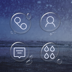 Rainy Sea Atom Theme
