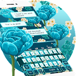 Blue Rose Keyboard Theme Icon