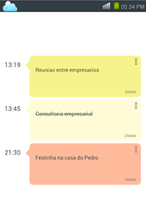 Agenda compartilhada - screenshot