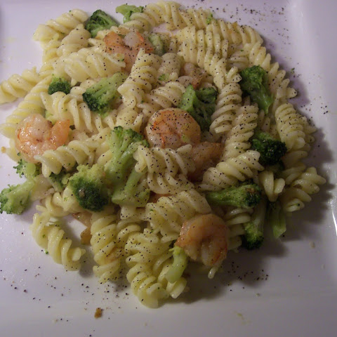 Broccoli and Shrimp Scampi – 7 Points +