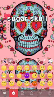 Sugar Skull Keyboard Theme - screenshot