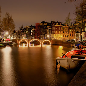Amsterdam at Night by Peter Kennett - City,  Street & Park  Neighborhoods ( hdr, amsterdam, night,  )