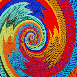 Basket for Sale by Barbara Brock - Abstract Patterns ( bright, color, basket art, native art, hand made art )