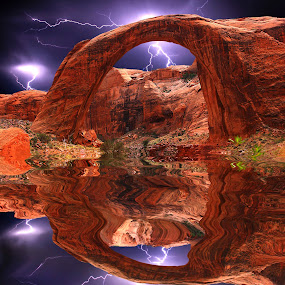 Rainbow bridge by Gérard CHATENET - Digital Art Places (  )
