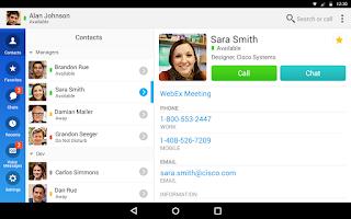 Screenshot of Cisco Jabber