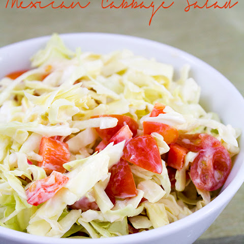 Mexican Salad with Cabbage