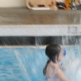SWIMMING GIRL by Katie Mac - Sports & Fitness Swimming ( water, girl, splashing, fun, swimming )