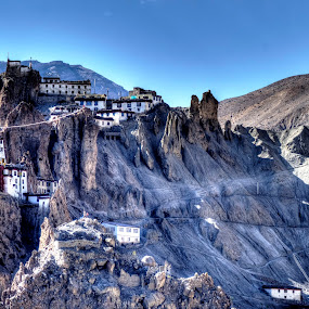 Dhankar Monestry, Kazaa, IN by Akash Deep - Landscapes Travel ( dhankar monestry, dhank ghar gompa, spiti pin confulence, spiti valley, dhankar gompa, pin valley )
