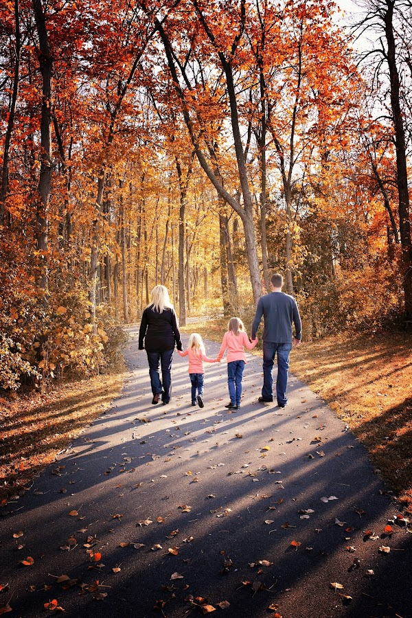 by Lisa Maher - People Family ( dad with kids, mom with kids, holding hands,  )