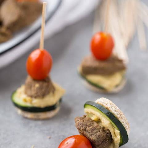 Steak and Hummus Pita Bites