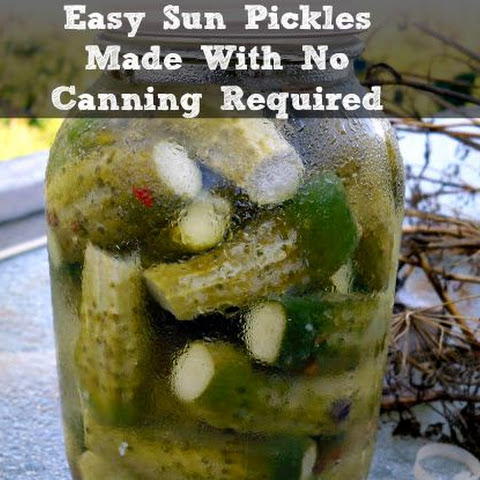 Sun Pickles with No Canning Required