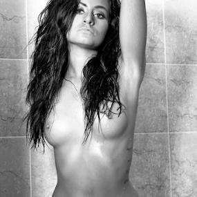 Squeeeeeeeky Clean! by Brian Sadowski - Nudes & Boudoir Artistic Nude ( models, nude, soapy, bath, shower, brunette, wet, hair )