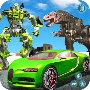 Dinosaur Robot Transform: Car Robot Transport Sim For PC / Windows 7/8/10 / Mac – Free Download