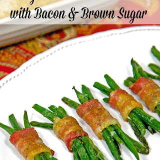 Green Bean Bundles with Bacon and Brown Sugar