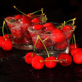 cherry in glass by LADOCKi Elvira - Food & Drink Fruits & Vegetables (  )