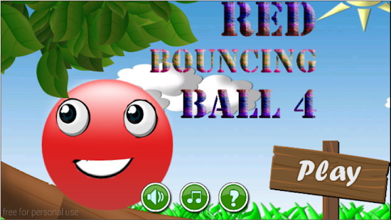 red bouncing ball 4 - screenshot