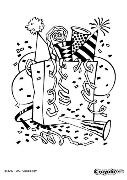 happy new year printable coloring pages - New Year Coloring Pages Pinterest