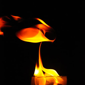 fire in the glass by Vinoth Kumar - Artistic Objects Other Objects