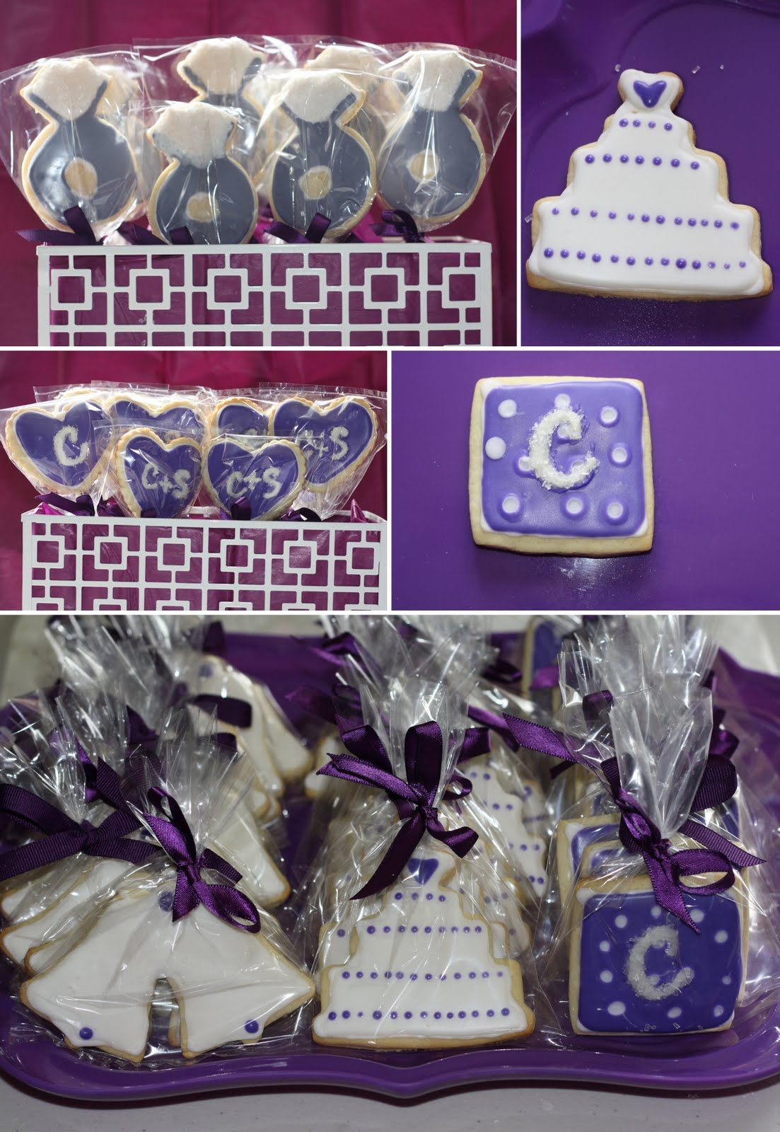 Blue Wedding Favors Candy Bar!