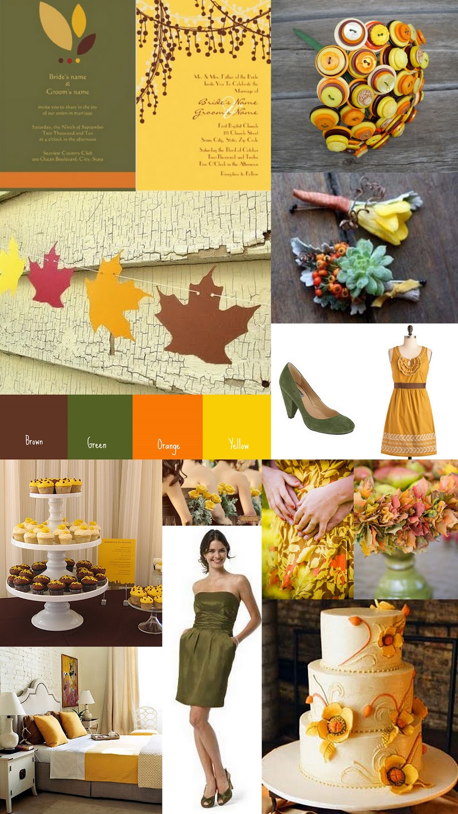 Yellow Fall Wedding Color