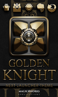 Gold K 1 Next Launcher theme - screenshot
