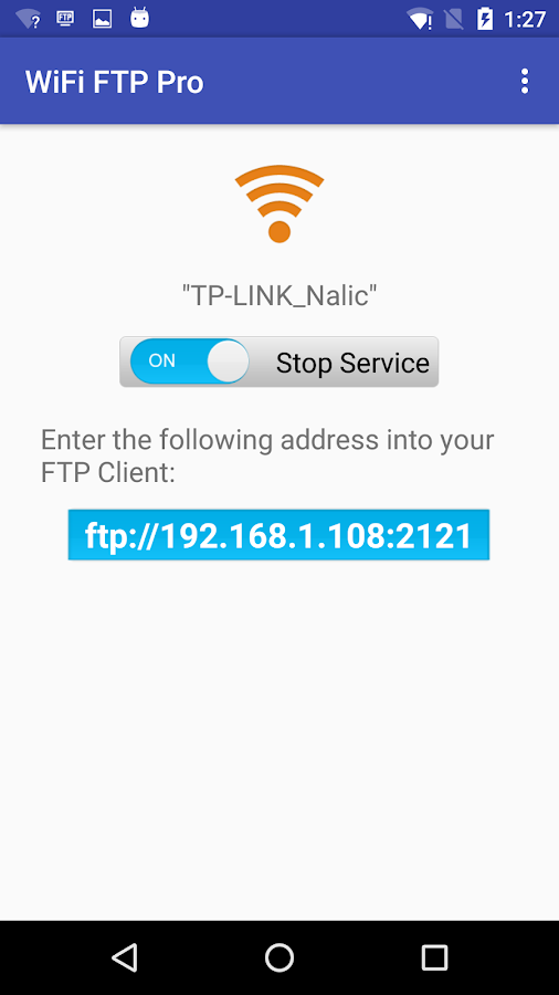 WiFi FTP Pro (File Transfer) Screenshot 0
