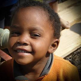 Smiling little boy by Karin Wollina - People Portraits of Men ( african, africa, smile, boy, smiling,  )