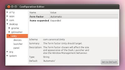 Настройка Unity в Ubuntu 11.04 Dconf-editor