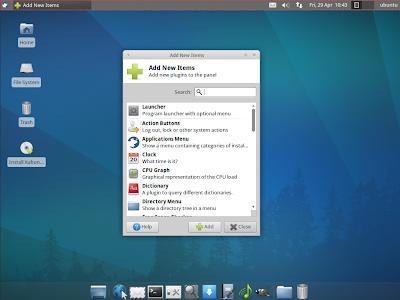 XUbuntu 11.04 screenshots